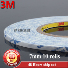 10x 7mm width *50M *0.15mm thick 3M 9448A white Double Sided Adhesive sticky Tape strong  for General Industrial Assembl Joint