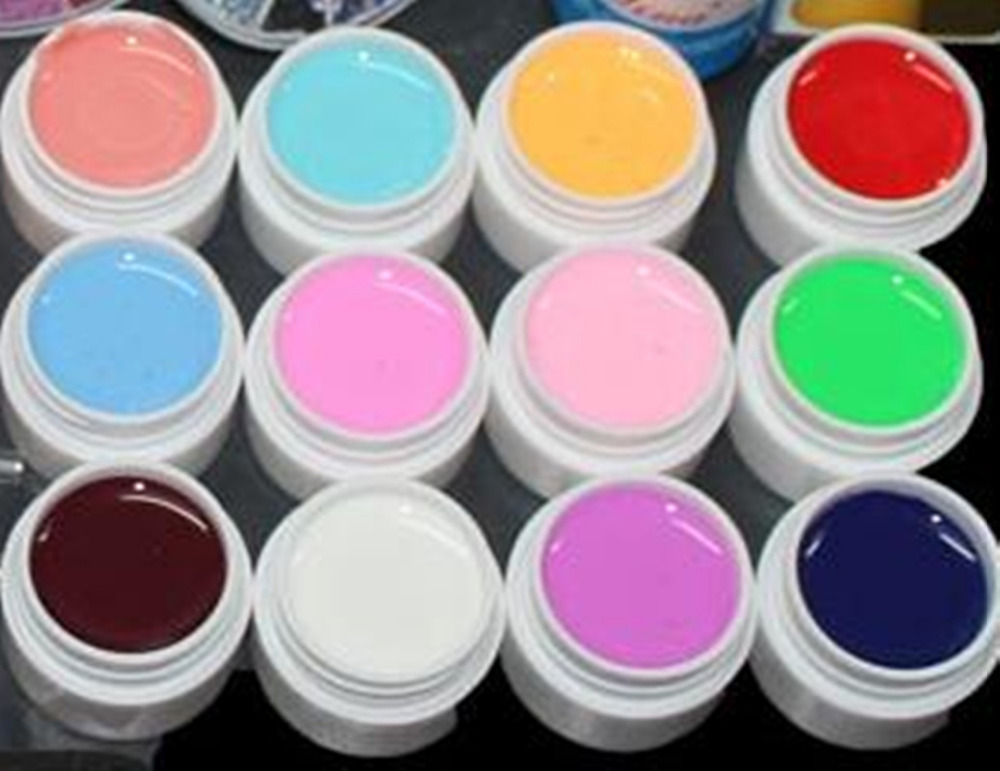 Nail art werkzeug full set 12 farben uv gel kit pinsel nagel