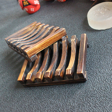 1PC Beautiful Design Wooden Handmade Bathroom Wood Soap Dish