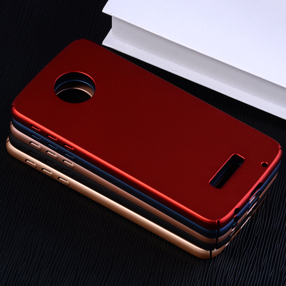 Hot 360 Protection Case For Motorola Moto Z Play Case Luxury Ultra thin Hard PC Shield Back Cover For Moto Z Play