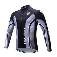 Pro TELEYI Brand Thaddeus cycling wear Cycling Clothing/mtb bike clothing/bicycle clothes/Spring Long Sleeve Cycling Jerseys