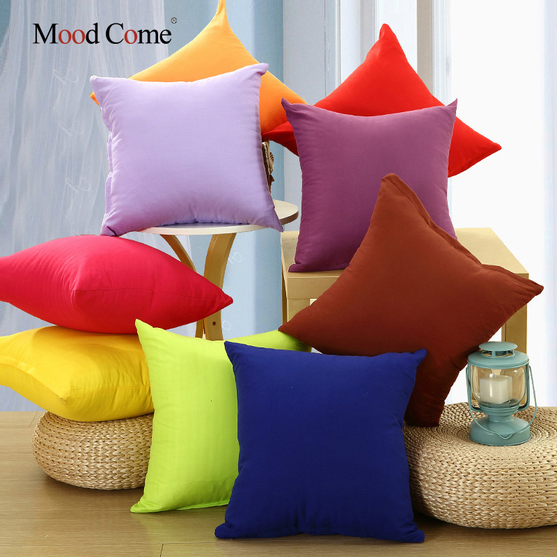 soft shagy sofa cushion cover solid color throw pillow covers cushion case decorative pillow case plain - Decorative Pillows For Sofa