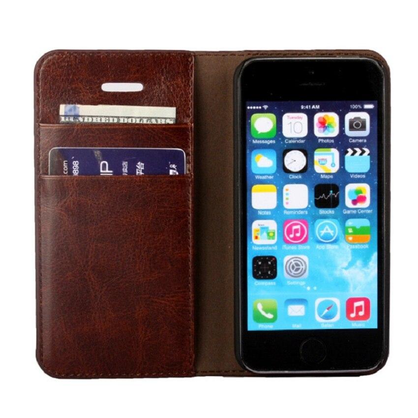 Luxusní originální kožené pouzdro pro iPhone 7 6s 6 plus styl peněženky s slotem na kartu Filp telefon taška na telefon pro iPhone 5s pouzdra na telefon
