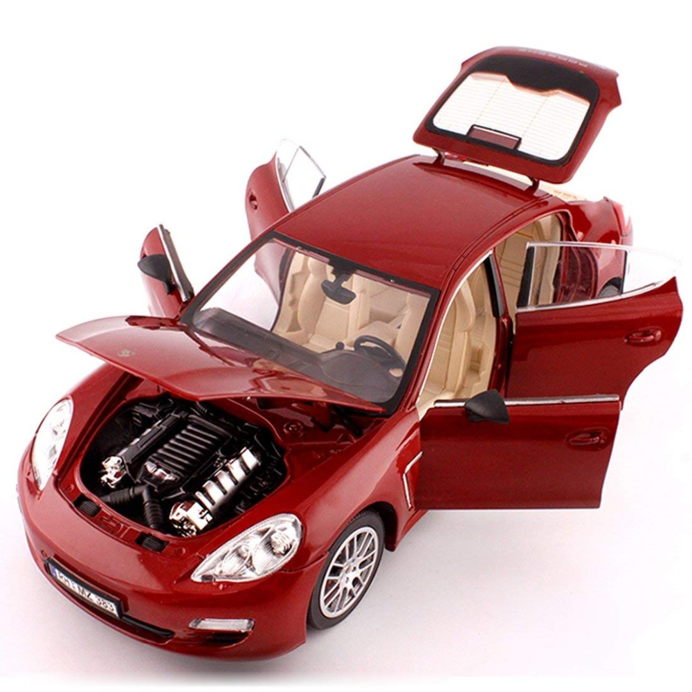 <font><b>1:18</b></font> Simulation alloy sports <font><b>car</b></font> <font><b>model</b></font> For Porsche Panamera with Steering wheel control front wheel steering toy for Children image