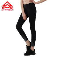 Syprem running pants Black Reflective Night Running Leggings Women Elastic High Waist yoga Pants Quick Dry Sport Trousers,TK2525