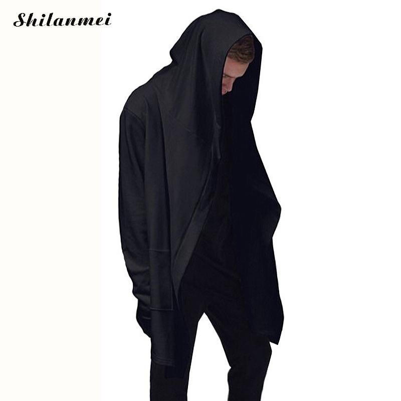 2017 Assasins Creed Black Hoodies Men Oversized Kanye Mens Hooded Cloak Coat Sweat Trash ...