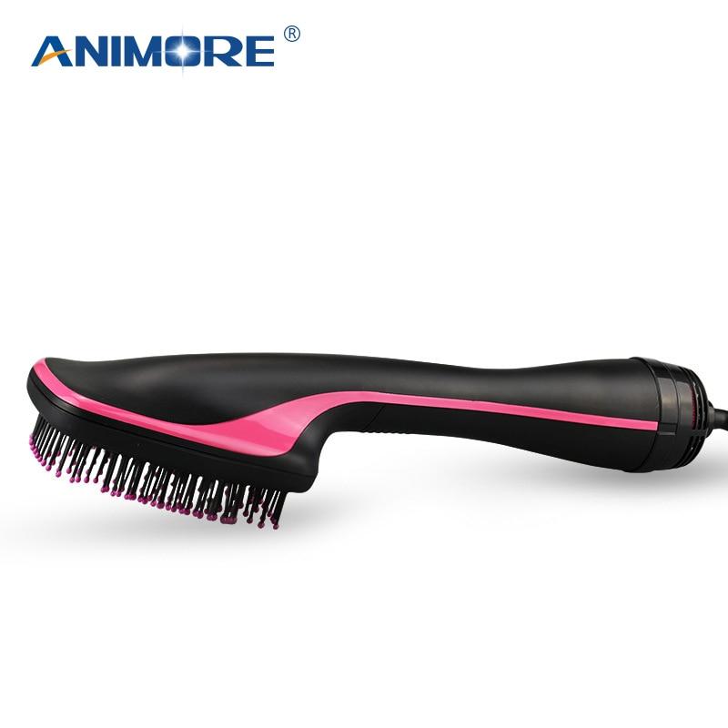 ANIMORE Professionnel Cheveux Boucles Peigne Multi Fonction Électrique Cheveux Séchoir Brosse À Air Chaud Sèche-Cheveux Brosse Cheveux Styler CI-09