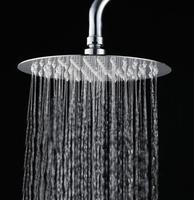 Oferta 8/10/12 pulgadas 304 cabezal de ducha de acero inoxidable redondo ultrafino cabezal de ducha de lluvia ducha