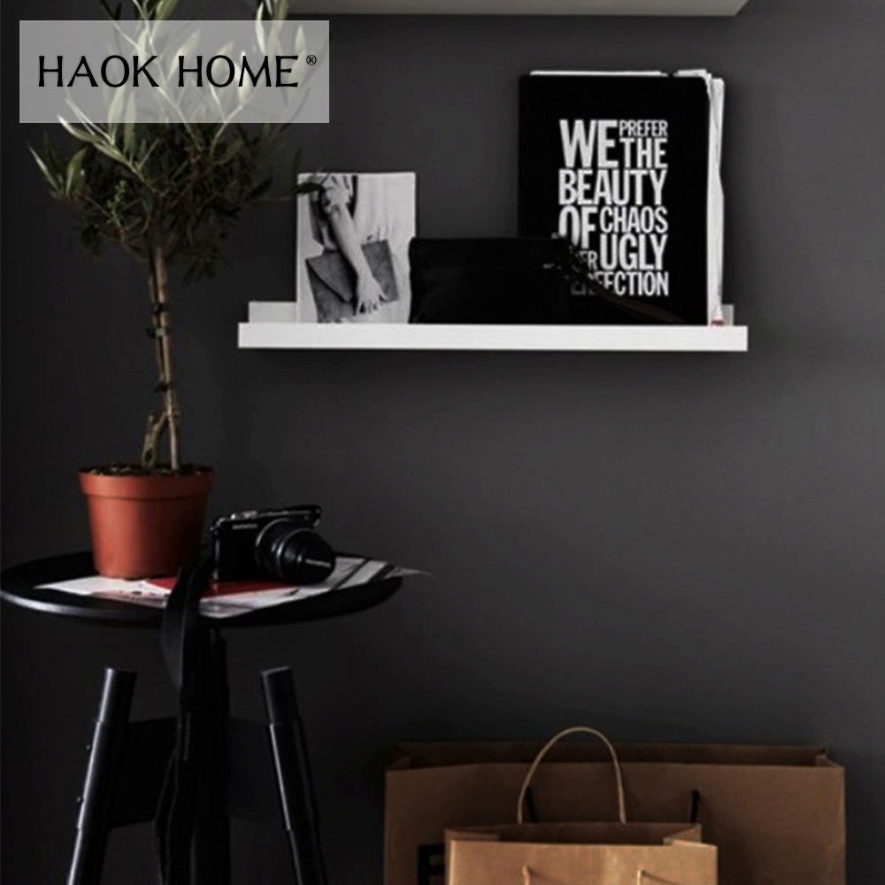 HaokHome Classic Peel and Stick Black Wallpaper Self-Adhesive Furniture Sticker Contact Paper Living Room Bedroom Home Decor
