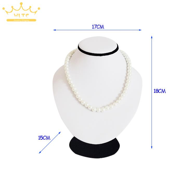 New Necklace and Earring Bust Jewelry Display Free Shipping White