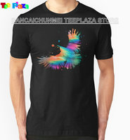 Teeplaza Summer Casual T Shirt Good Quality Print Glitch Crow Crew Neck Short Sleeve Tee For