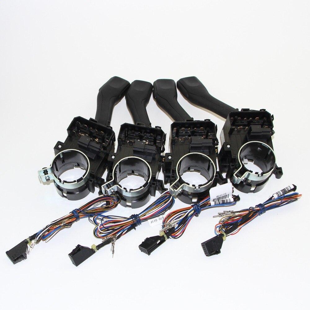 4 Set régulateur de vitesse système CCS tige poignée bouton de commutation pour VW Golf 4 Jetta MK4 IV Bora 18G 953 513 A + 1J1 970 011 F