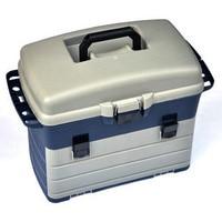 Big Large 42CM Multi Purpose Road Sea Fishing Tackle Box Grey Can Back Seat Tool Box 3 Layers Bait Box Fishing Box Storage