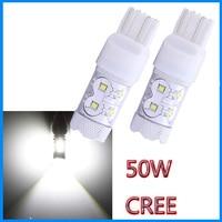 Wholesales Cree 50W LED T10 T15 T20 W5W Width DRL Signal Interior Lights Lamp Led Car