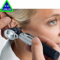 LINLIN Otoscopio Diagnositc Kit Ear Care Pocket Portable LED Otoscope High Grade Ear Detection Instrument EartorchFoot