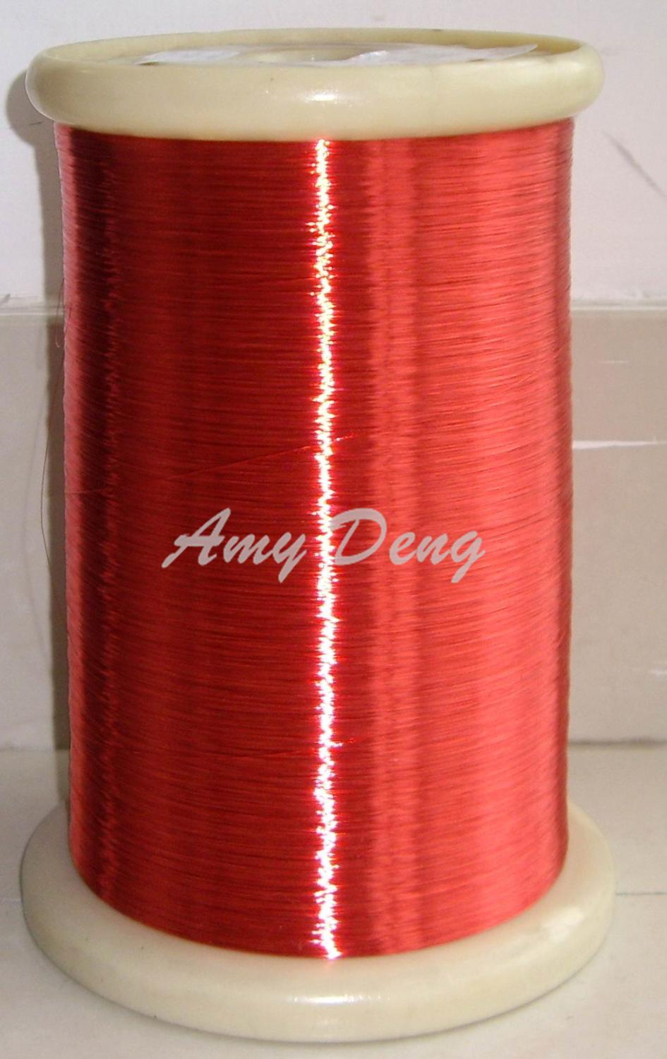 5000meters/lot  0.12 Mm Red Enameled Wire Polyurethane Enamelled Round Winding Wire QA-1-155