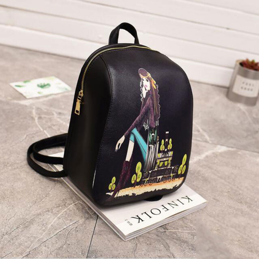 LJT Brand PU Leather Women Backpack Vintage Backpack For Teenage Girls School Bag Mochila Feminina Ladies Personality Casual Bag