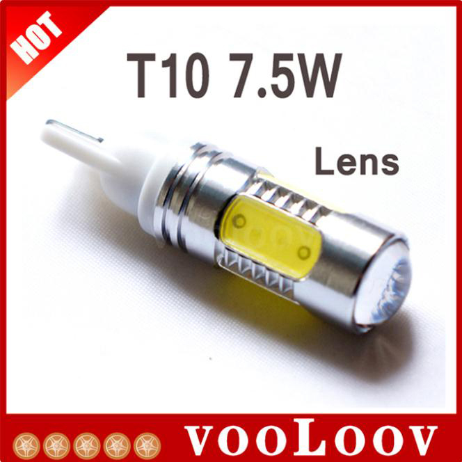 Hot sales Auto light T10 car led light xenon wedge bulb 194 168 192 W5W 7.5w lamp Interior Packing Car Styling Wholesales