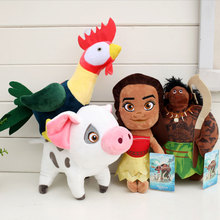 20CM Moana Very Lovely Princess Maui Heihei Pua Plush Stuffed Toy Cartoon Adventure Doll Gift For Kids