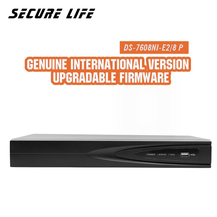 En stock DS-7608NI-E2/8 p Anglais version 8ch NVR avec 2 SATA 8 POE ports HDMI et VGA sortie intégré plug & play NVR POE H.264