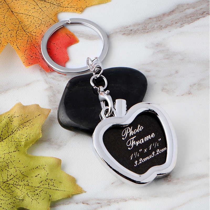 Metal Alloy Originality Photo Picture Frame Keyring Keychain  Lover Gift Banquet Souvenirs