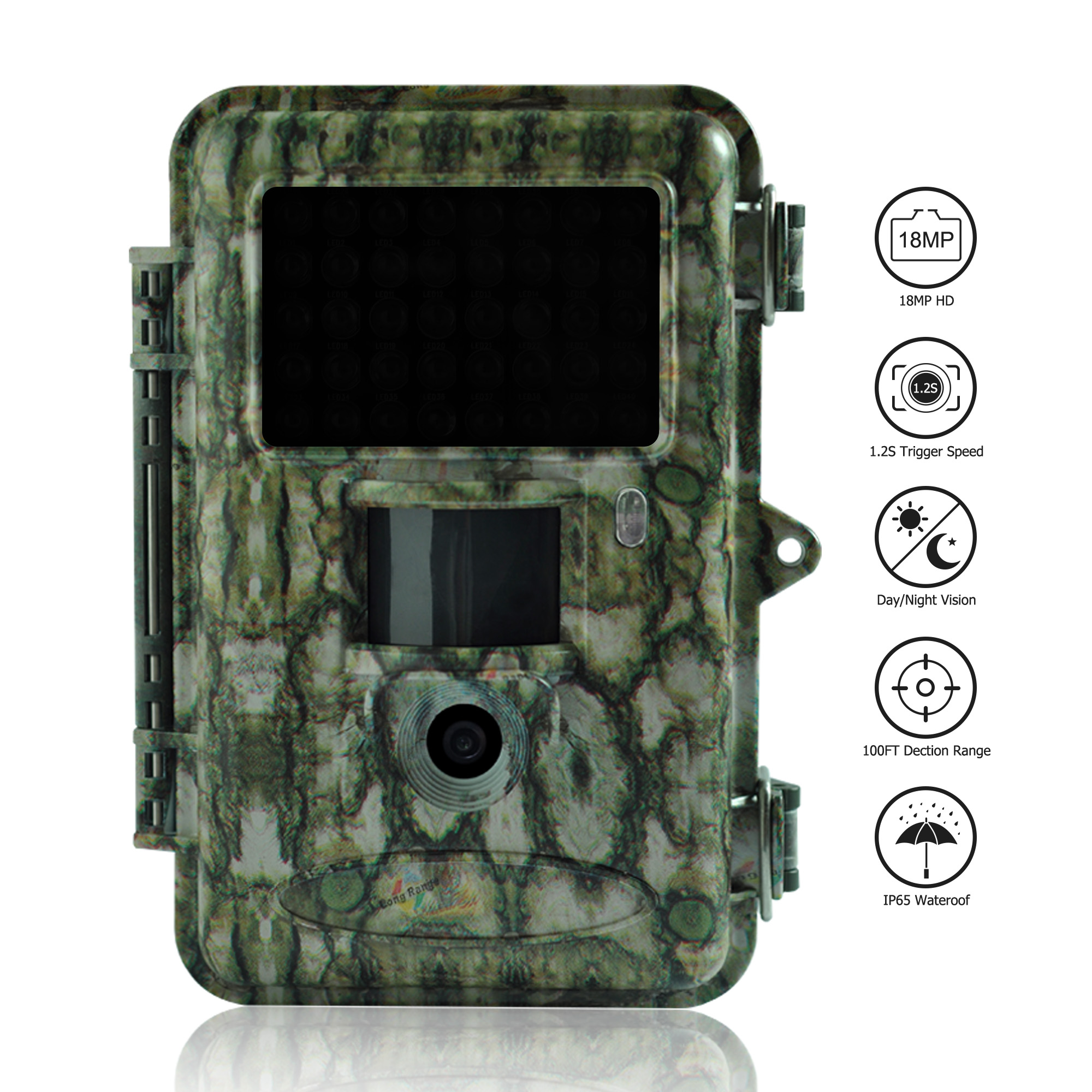 Bolyguard Hunting Trail Camera 18MP Outdoor Waterproof Wildlife 940nm IR LED for Night Vision surveillance camera fototrappola