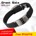 Noproblem 035 antifatigue power lucky fashion jewelry tourmaline bio health benifits men charms infrared ion choker bracelets