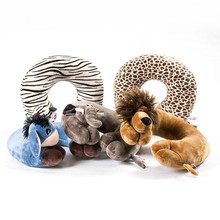 1pcs New Fashion U Shape Car Neck Pillows Cartoon Animal Cushion Travel Pillow Neck Support for Airplane Car Office Home Sleep