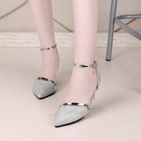 Sexy Shoes Woman High Heels Gold Silver Wedding Shoes Birde Rhinestones Women Shoes Summer Sandals ladies