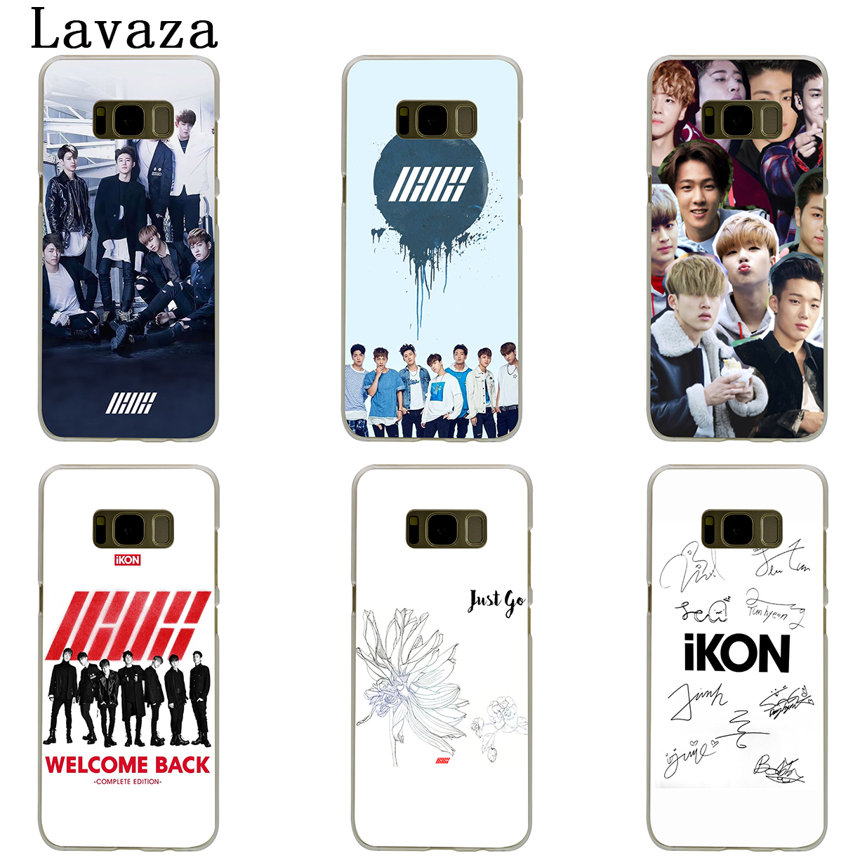 US $1 99 26% OFF|Lavaza IKON Kpop Hard Phone Case for Samsung Galaxy S6 S7  Edge S8 S9 S10 Plus S10e Cover-in Half-wrapped Case from Cellphones &