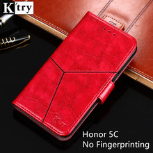Huawei Honor 5C Case Without Fingerprinting leather Cover Flip Capa For Huawei Honor 5C Wallet phone Case for Russian
