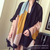 2018 Foreign Trade Fast Selling New Cotton Fringed Beach Anti Silk Scarf Gauze Cloth Spring Summer
