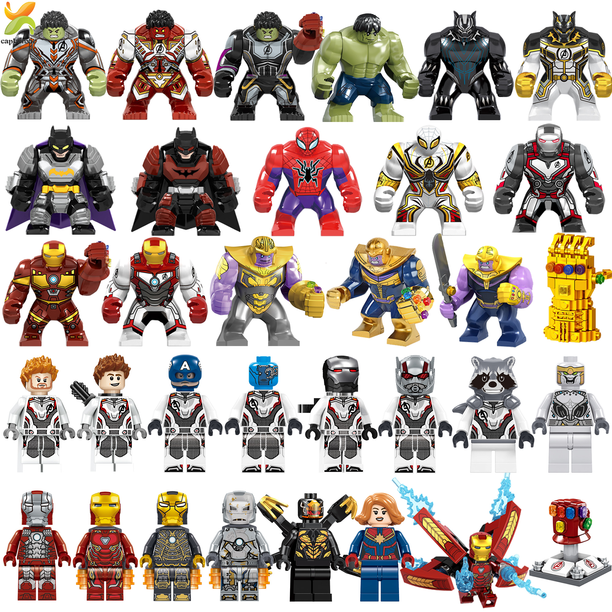Avengers Endgame Marvel Super Hero Captain War Machine Compatible Legoed Hulk Thanos Galaxy iron man Figures Building Blocks Toy(China)