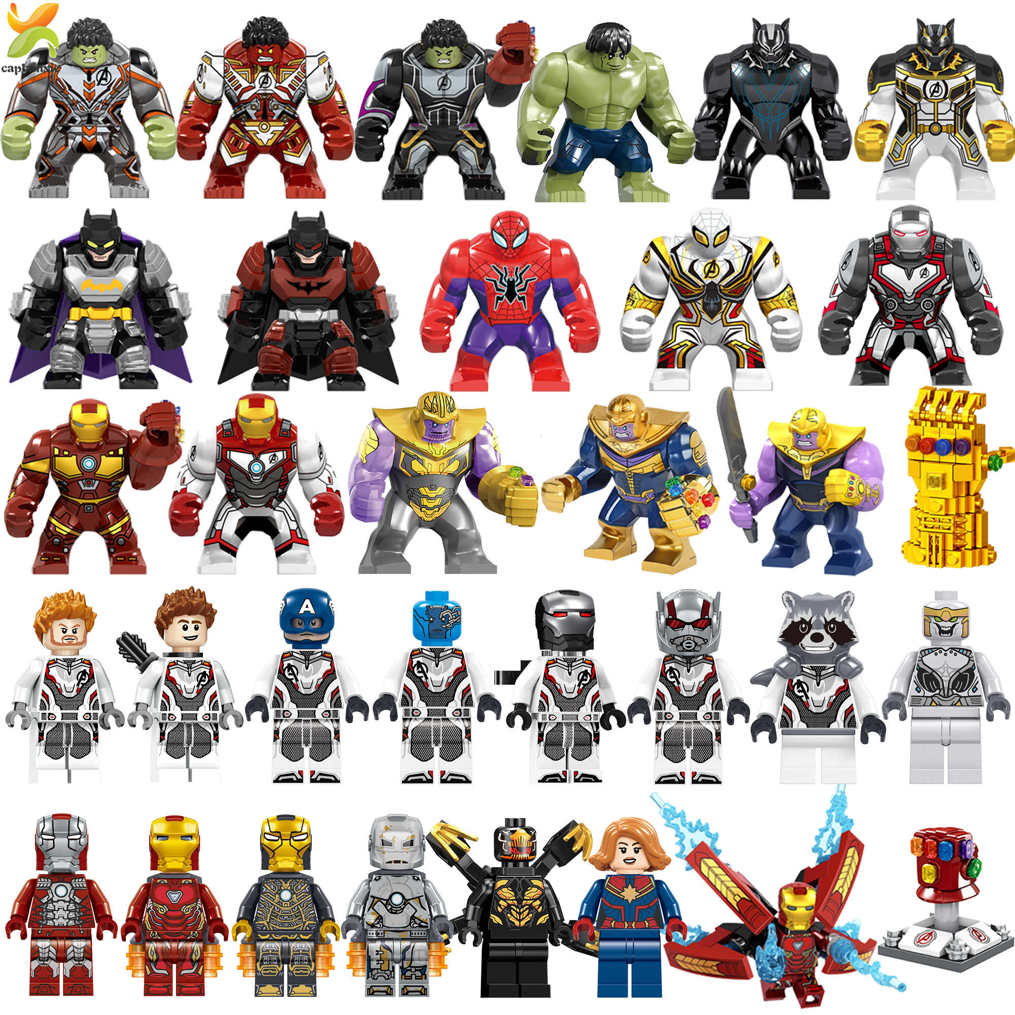 Avengers Endgame Marvel Super Hero Captain War Machine Compatible Legoed Hulk Thanos Galaxy iron man Figures Building Blocks Toy