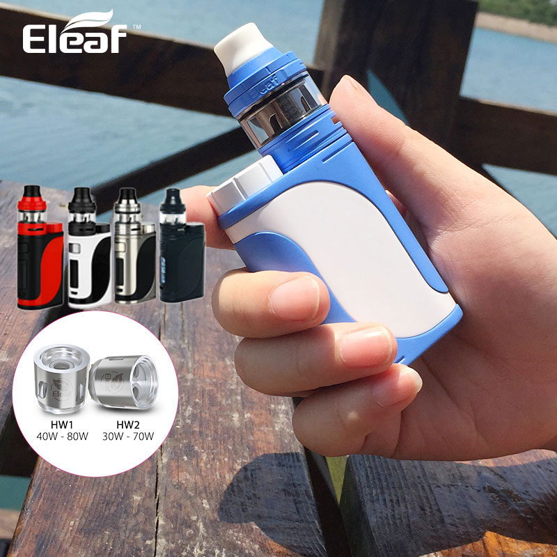 Original 85W Eleaf iStick Pico 25 Vape Kit with 2ml Ello Tank 0.2ohm/0.3ohm HW Coil E-cig & iStick Pico 25 Box Mod 85W Vapor original eleaf istick pico 25 mod 85w pico mod 25mm diameter electronic cigarette vape mod match eleaf melo 3 tank tc box mod