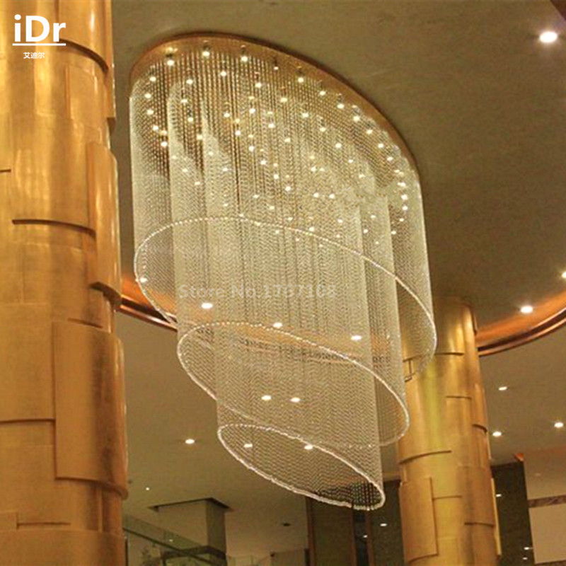 2016 New Large non-standard hotel project lamps crystal lamps lobby villa penthouse floor lamps living room Ceiling Lights