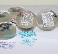 SJHZ 17! venta al por mayor del Silicio Del gel Suave 50 unids/lote 2.8 cm Relleno De Silicona Transparente Clear Jelly Nail Stamper Nail Art Stamping Cabeza