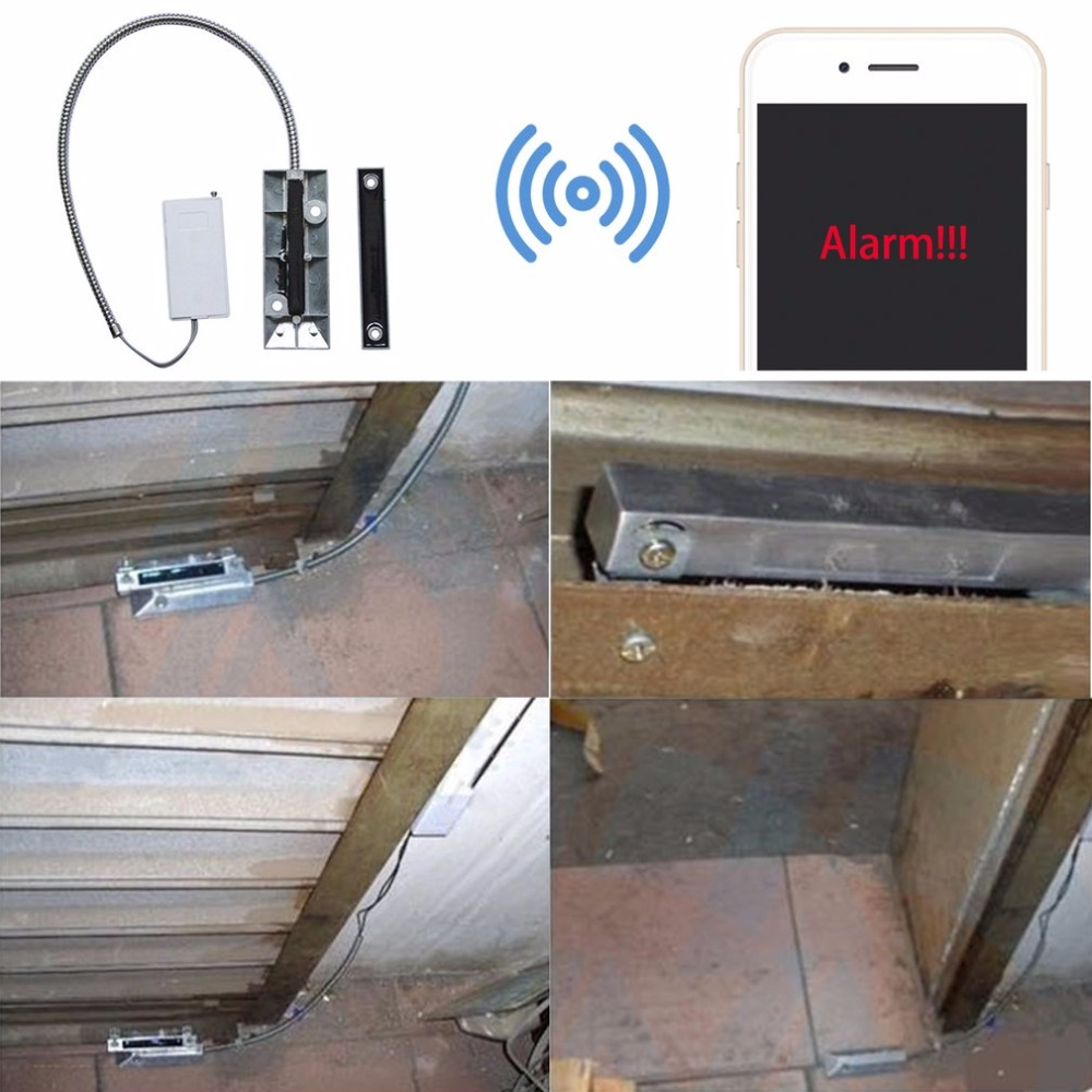Wireless Rolling Shutter Magnetic Contact Garage Door Detector for House Burglar Security Alarm Mini Wired Infrared Detector wireless roller shutter rolling door sensor garage gates magnetic door window detector 433mhz for home alarm system security