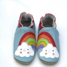 Гарантия мягкая детская обувь из натуральной кожи обувь для мальчика Детские пинетки для новорожденных из овечьей кожи Первые ходунки