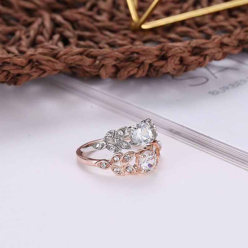 Punk Retro Feather Leaf แหวนผู้หญิงผู้ชายโบราณทอง/เงินสี Vintage ใบนิ้วมือเปิดแหวนของขวัญ