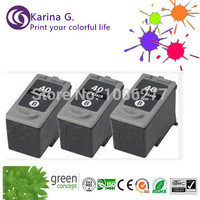 Free Shipping 3pk PG 40 PG40 Ink Cartridge For Canon PIXMA IP2500 IP2600 MX300 MX310 MP160