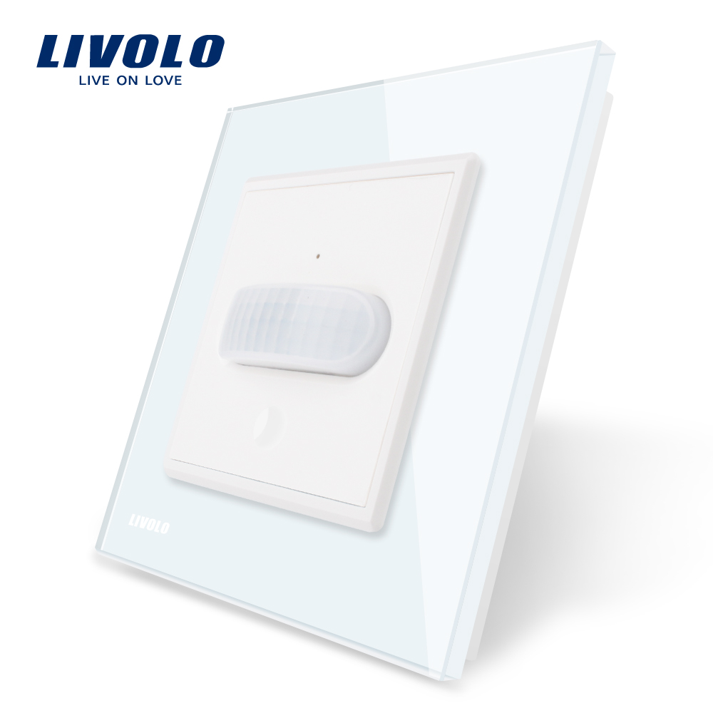 Image 2 - Livolo EU standard New Human Induction/Touch Induction Switch, Glass Panel, AC 110~250V Home Wall Light Switch,Infrared Inductio-in Switches from Lights & Lighting