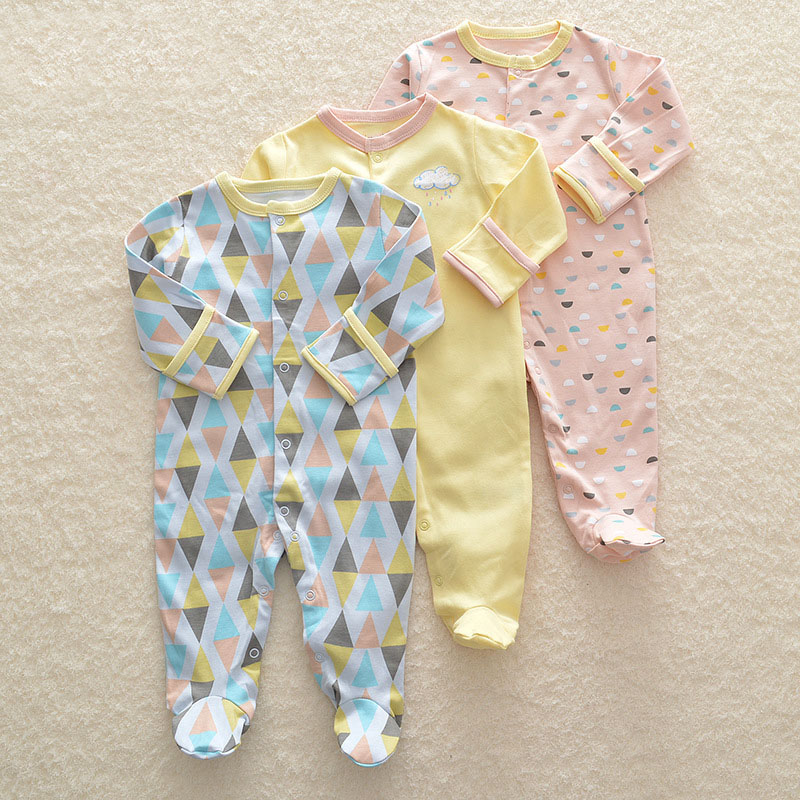 2018 Baby Romper Set 3pcs Newborn Clothes 3M-12M Infant Clothing Cute Cartoon High Quality Rompers Infant 100% Cotton Jumpsuit cotton cute red lips print newborn infant baby boys clothing spring long sleeve romper jumpsuit baby rompers clothes outfits set