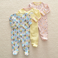 2018 Baby Romper Set 3pcs Newborn Clothes 3M 12M Infant Clothing Cute Cartoon High Quality Rompers