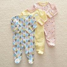 3 ピース/セットベビーロンパース新生児服幼児服かわいい漫画ロンパース幼児綿 100% のジャンプスーツ 0 1 年