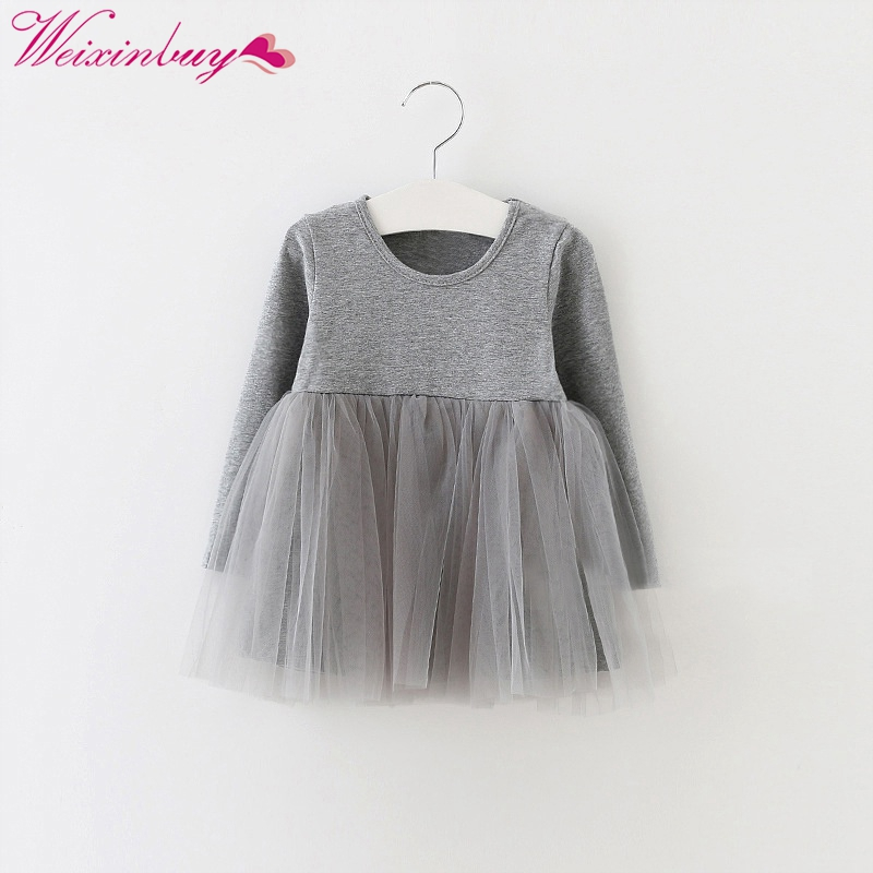 Kids Girls 0-4 Years Birthday Dresses Infant Dress Newborn Girls Clothes Babys Cotton Long Sleeve Clothing M2 kids girls birthday dresses infant dress newborn girls baby cotton long sleeve clothing 0 4 years