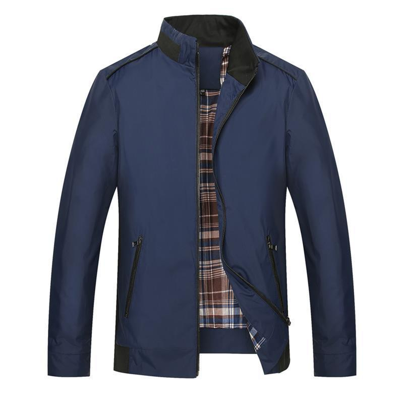 8XL 7XL men's fashion business casual solid coat jacket high quality cheongsam collar coat and jacket men's large size free shi