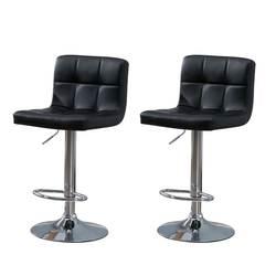 Samincom 2 шт. современный поворотный, из искусственной кожи регулируемые барные стулья гидравлический счетчик табуреты квадратной высоты