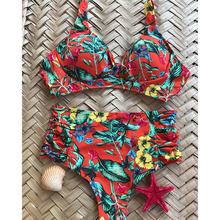 High Waist Swimsuit Plus Size Swimwear Women Vintage Bikini Bathing Suit 2019 Retro Bikini Set Large Size Swimsuit Dropshipping
