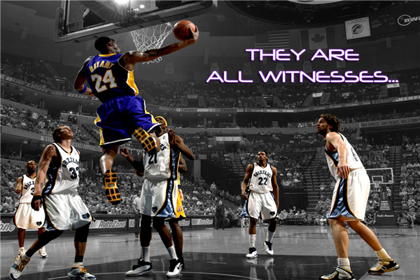 Custom Canvas Painting Kobe Bryant Lakers Poster Slam Dunk Sticker